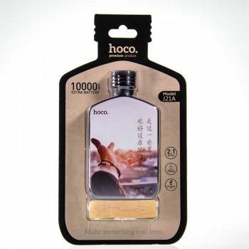 Hoco J21A 10000mah Heart words series, Courage, 2.1A (J21-10000) black