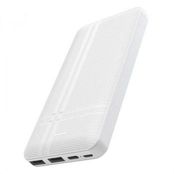 Hoco J48 10000mah Nimble, 2USB, microUSB + Type-C input, LED (J48-10000) white