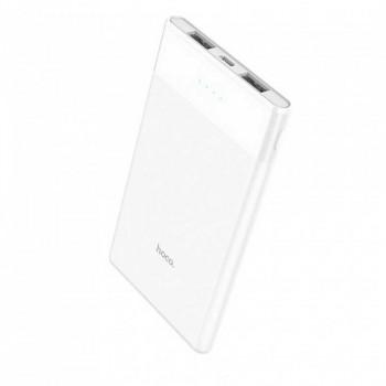 Hoco B35D Mini Ultra-Thin 5000mah Power Bank, 2USB, white