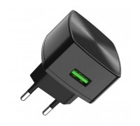 Hoco C70A Cutting-edge single port QC3.0 charger, black