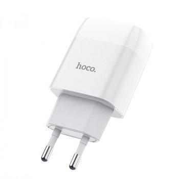 Сетевое зарядное устройство Hoco C72A Glorious charging adapter EU plug single USB ports