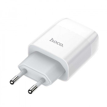 Сетевое зарядное устройство Hoco C73A Glorious charging adapter EU plug dual USB ports