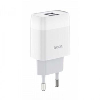 Hoco C73A 2.4А, 2USB, white
