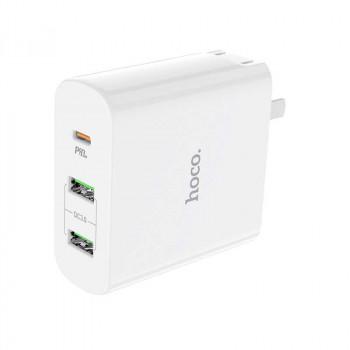 Сетевое зарядное устройство Hoco C74 63W Speedmaster wall charger dual USB and Type-C output