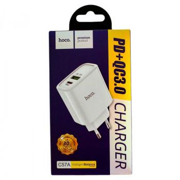 Hoco C57A Speed, QC3.0 +Type-C PD 18W, white