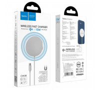 Hoco CW28 Original series magnetic wireless fast charger, Qi 15w, white