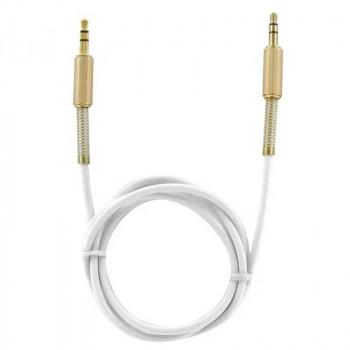 Аудио кабель AUX Krutoff Spring, 1m, белый (15077)