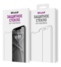 Стекло защитное Full Glue Krutoff для Samsung Galaxy S10+ черное (03252)