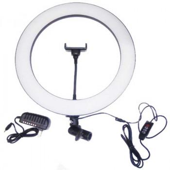 Кольцевая светодиодная лампа 35 см с держателем для телефона