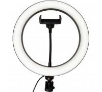 Кольцевая светодиодная лампа 25.5 см Beauty Live Ring Light, с держателем для телефона, black