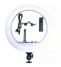 Кольцевая светодиодная LED лампа с 2-мя держателями (36 см.) и пультом, 7 цветов