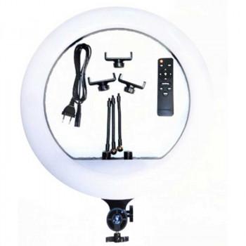Кольцевая светодиодная LED Soft Ring лампа 45 см с 3 держателями и пультом