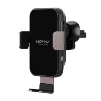 Автомобильный держатель Momax Q.Mount Smart Auto Clamping Wireless Charging Car Mount (CM11DH) с беспроводной зарядкой