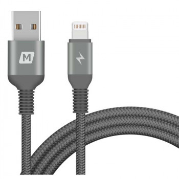 Кабель Momax Elite Link Lightning to USB Cable MFI (DL11D) 1,2м Space Gray