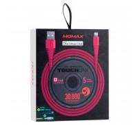 Momax Tough Link Lightning, 1.2m, 2.4A (DL8P) pink