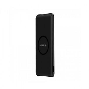 Momax qPower SLIM, 5000mah, 1xUSB, 2.1A, QI 1A, wireless external battery pack (IP85D) black