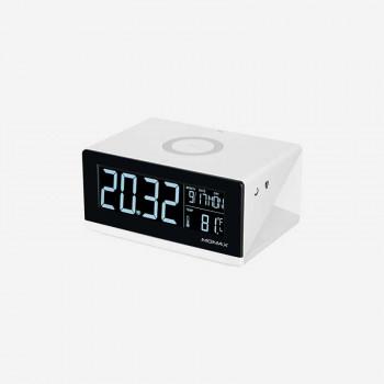 Беспроводное зарядное устройство Momax Q.Clock Digital Clock with Wireless Charger