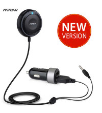 MPOW Bluetooth 4.1 Receiver with Car Charger & Noise Isolator, с громкой связью (MBR2) black