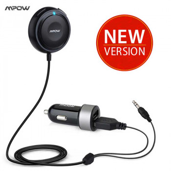 MPOW MBR2 Streambot One Bluetooth Hands-Free Car Kit with Noise Isolator