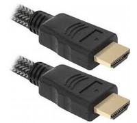 Defender HDMI, 10m, 1.4v, 2 ферритовых кольца, в оплетке (HDMI 33PRO) черный
