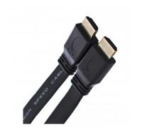 TV-COM HDMI 3m, CG200F, V1.4, плоский, черный