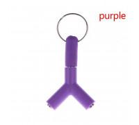 Разветвитель AUX, с брелком, фиолетовый