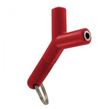 Разветвитель AUX, с брелком, красный