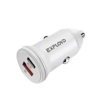 Exployd EX-Z-1138 PD20W 3A Car Charger, USB-C PD 20W + USB 2.4A white