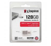 Kingston DataTraveler 3С USB 3.1 Type-C Flash Drive 128GB (DTDU03C/128GB)