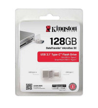 Kingston DataTraveler 3С USB 3.1 Type-C Flash Drive 128GB (DTDU03C/128GB)