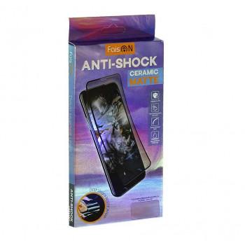 FaisON стекло для Samsung A51 Anti-Shock Ceramic Matte, полный плей, black