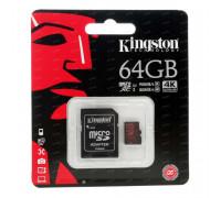 Kingston micro SDXC U3 4K UHD Card 64Gb (90/80) (SDCA3/64GB)