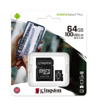 Kingston micro SDHC 64Gb Canvas Select Plus, 100Mb/s read (SDCS2/64GB)