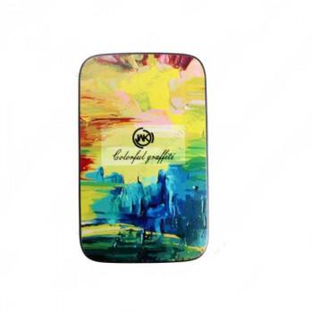 WK Glory Series, Colorful graffiti, 10000mAh, 2.4A, 2xUSB (WP-009) black