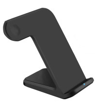 COTEetCI WS-18 3-in-1 Wireless Charging Base, 2w-10w, for iWatch 1-6s & SE, black