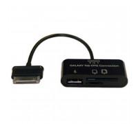 Galaxy Tab connection kit, OTG адаптор для Galaxy Tab, 0.1m (S-K03) black