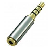 переходник Jack2.5mm (f) to Jack3.5mm (m), silver