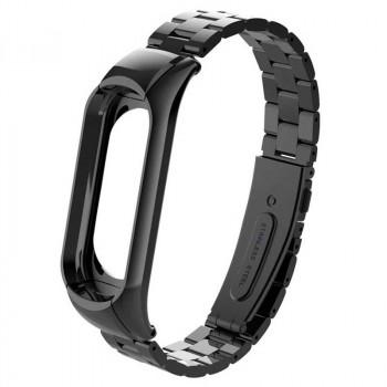 металлический ремешок для MI Band 3, черный
