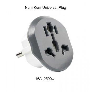 Nam Kem Universal Plug, 16A, 2500w (KT605) white with gray
