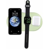 AirPower Wireless Charger, беспроводная зарядка 3-в-1 Phone+iPod+iWatch 1-5s, зеленый
