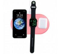 AirPower Wireless Charger, беспроводная зарядка 3-в-1 Phone+iPod+iWatch 1-5s, розовый