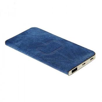 Внешний аккумулятор Qumo PowerAid Slim Smart 4000 Jeans (Dark Blue)