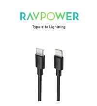 RAVPower Type-C to Lightning Cable, 1m, онлайн упаковка (RP-CB054) black