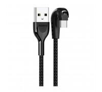Remax Heymanba Data Cable Type-C, 1m, 3A, угловой (RC-097a) black