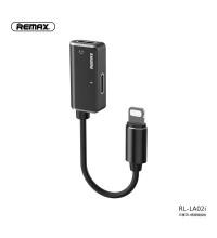 Remax Enjoy Series Jack Splitter, 8pin to 8pin (for earphones) + 8pin, 2.4A (RL-LA02i) black