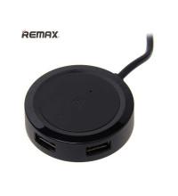 Remax Inspiron USB Hub на 3 порта USB2.0, 1.5m, доп. питание до 2.1А (RU-05) black