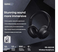 Remax RB-660HB Wireless over-ear Headphone, black