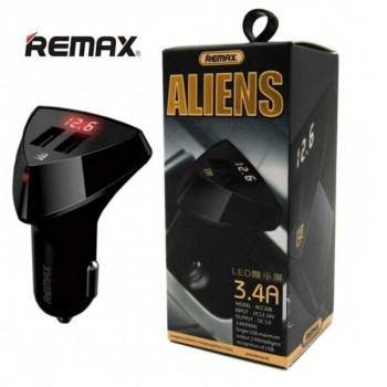 Remax Aliens LED 3.4А на 2 USB, с дисплеем (RCC-208) черный