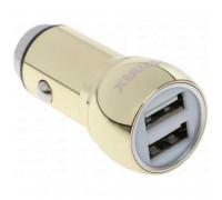 Remax Safety Hammer 2.4A на 2 USB метал. (RCC205) золотой