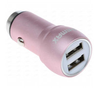 Remax Safety Hammer 2.4A на 2 USB метал. (RCC205) розовое золото